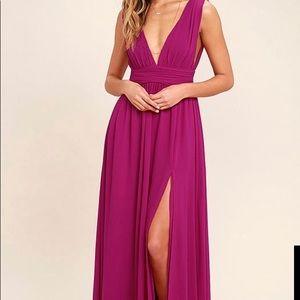 Lulus Size Small Magenta Maxi Dress